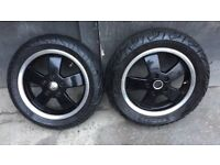 Vespa Gt Gts Set Of Two Wheels With Tyres