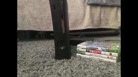 XBOX 360 ELITE WITH CONTROLLER AND GAMES