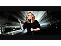 2 x Adele seated tickets - Saturday 1 July 17 - Hyde Park