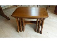 Ercol nest of three tables.