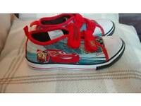 Lightning mcqueen canvas trainers size 12