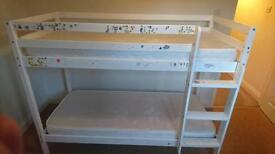 GONE Shorty bunk bed with 2 almost new mattresses.