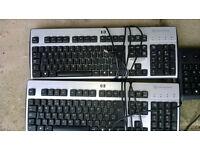 Job lot computer Hp smart card keyboards 84p each