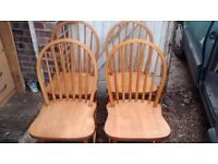 4 KITCHEN /DINNING CHAIRS,USE AS IS OR SHABBY CHIC UP IN GOOD CONDITION