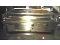 KEBAB CAFE RESTAURANT LAVAROCK ARCHWAY CHARCOAL SHORT GRILL 3 BURNER FOR COMMERCIAL CATERING