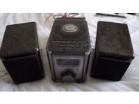 JVC Compact HIFI system with remote. Incredible sound very rich.