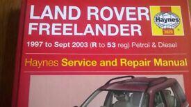 LANDROVER FREELANDER HAYNES MANUAL