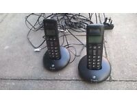 BT Graphite cordless phones twin set excellent central London bargain