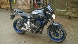 Yamaha MT-07 4,000 miles, 6 months Warranty plus extras