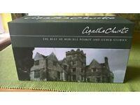 Full box set of Agatha Christie audio books. Unused
