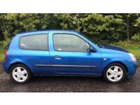 RENAULT CLIO DYNAMIQUE 1.4L (2005) full year mot 3 door family car
