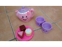 Fisherprice Laugh amd Learn Say Please Childs Tea Set