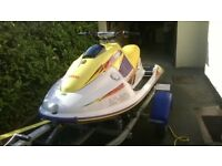 Yamaha Wave Blaster 2 Jet Ski on excellent galvanised roller trailer.