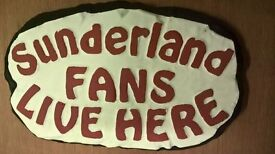 Sunderland fan outdoor football plaque - handmade, brand new, ideal gift for SAFC supporters