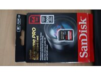 Condition:New 64GB SanDisk Extreme Pro SD SDXC Memory Card UHS-II 300MB/s U3 For HD 4K Video