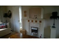 Electric fire, surround, mirror and marble full set.