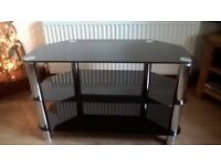 t v stand black silver will hold 42inc tv