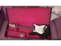 Encore Electric (Fender Stratocaster copy) with case(s) - suit beginner
