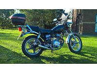 Huoniao HN 125-8 Learner Legal 125cc Cruiser Motorbike Long MOT ( Honda CG 125 motorcycle copy )