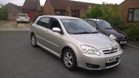 toyota corolla T3 vvti 1.4 2005 50000 miles three months warranty ,lovely car