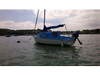 19ft Sadler Seawych 4 berth sailing boat with tender and two outboard motors