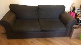 Brown Material Sofa 3 + 2