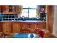 Pitch pine kitchen cupboards