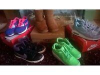 huge bundle of designer ladies trainers and ugg boots, size 5+6