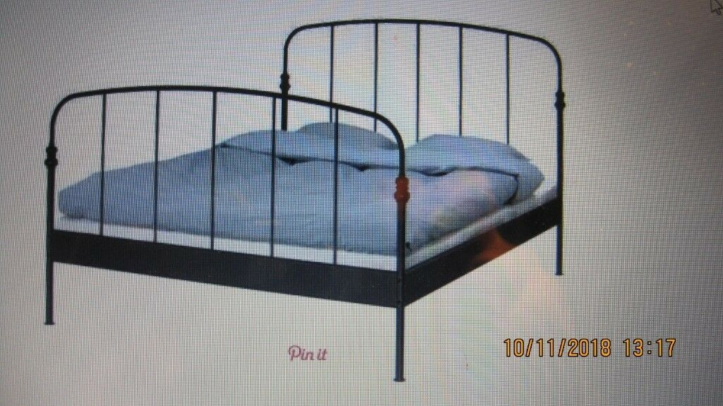 Double Bed Frame Ikea Lillesand Takes 200 X 140 Mattress In