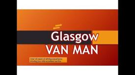 GLASGOW VAN AND MAN £10 per hour for one item in 10 miles radius and minimum 2 hours