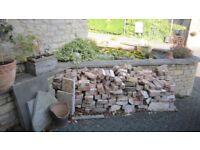 approx 20 bags of hardcore (broken brick\concrete\mortar) plus about 200 loose broken bricks.