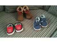 3 pairs baby shoes