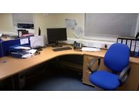 Used matching complete office furniture for 80 people - Price for Information only