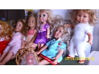 six assorted lovely dolls