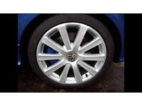 "**wanted** VW Golf MK5 R32 Omanyt Alloy Wheels 5x112 18"" **swap**"