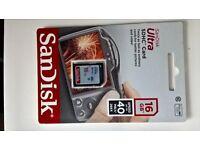 *Brand New*SanDisk Ultra SDHC Card 16GB Class 10