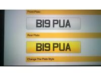 BIG PUA private registration plate for the playa!