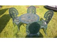 Set of aluminium garden furniture