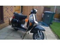 1987 px200e very low miles great standard scooter.mot till april 2018.