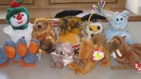 Group of Ty Beanie and Teeenie Weenie Beanie Babies all retired
