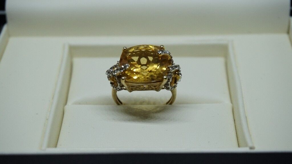 14 ct yellow gold overlay sterling silver Ring