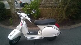 VESPA PX125 in mint condition with only 340 miles on the clock