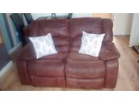 2 seater Suede sofa