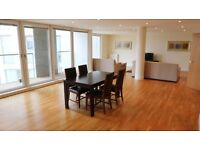 Stunning very large 2 bed 2 bath flat in Trinity Tower, E14, gym, 7 mins to Canary Wharf, balcony