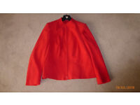Red Velour Jacket. size 14