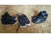 Size 4 wedge pumps and cut out boots vans size 5