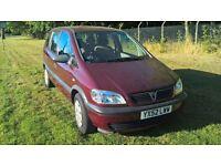 vauxhall zafria family car low millage long mot drives perfect bargain 7 seater £725 harrow area