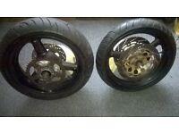 Suzuki bandit 600 gsf wheels tyres discs sprocket 01-04