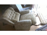 Reclining armchair, free for collection.