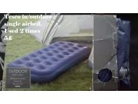 tesco single air bed